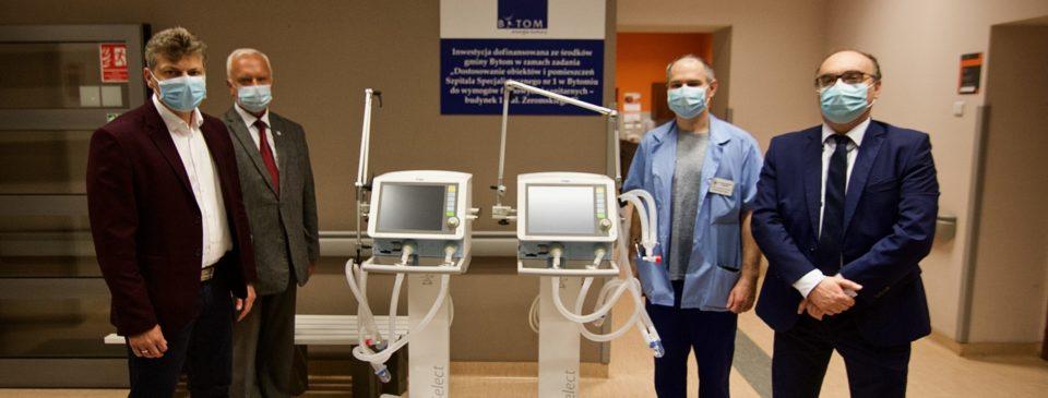 Miasto przekazało Szpitalowi Specjalistycznemu nr 1 dwa respiratory