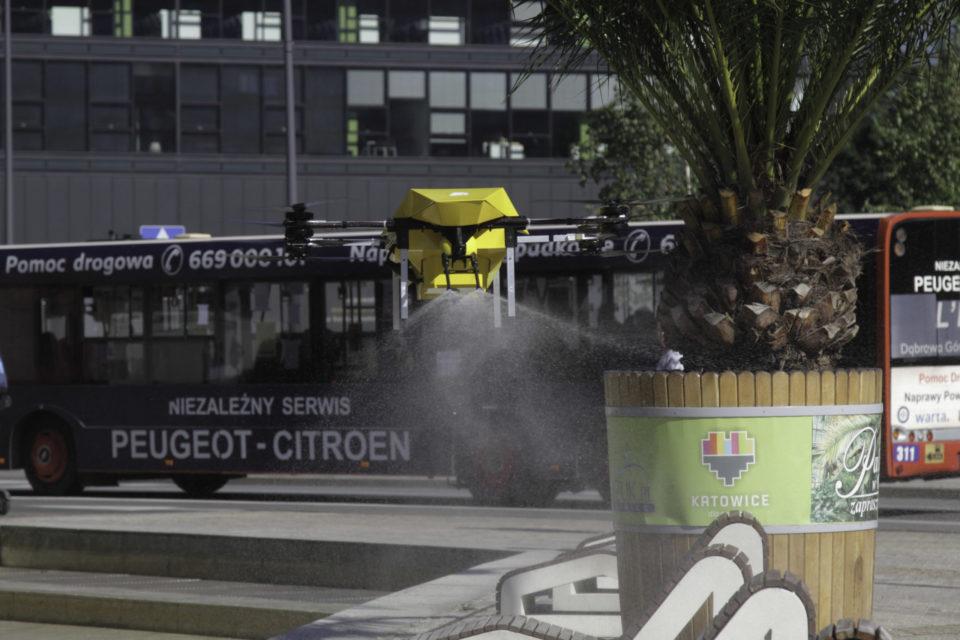 Dronoid zdezynfekował Rynek w Katowicach