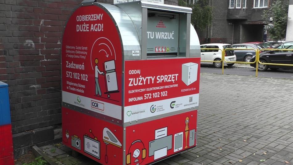 Pierwsze pojemniki na elektrośmieci są już w Bytomiu