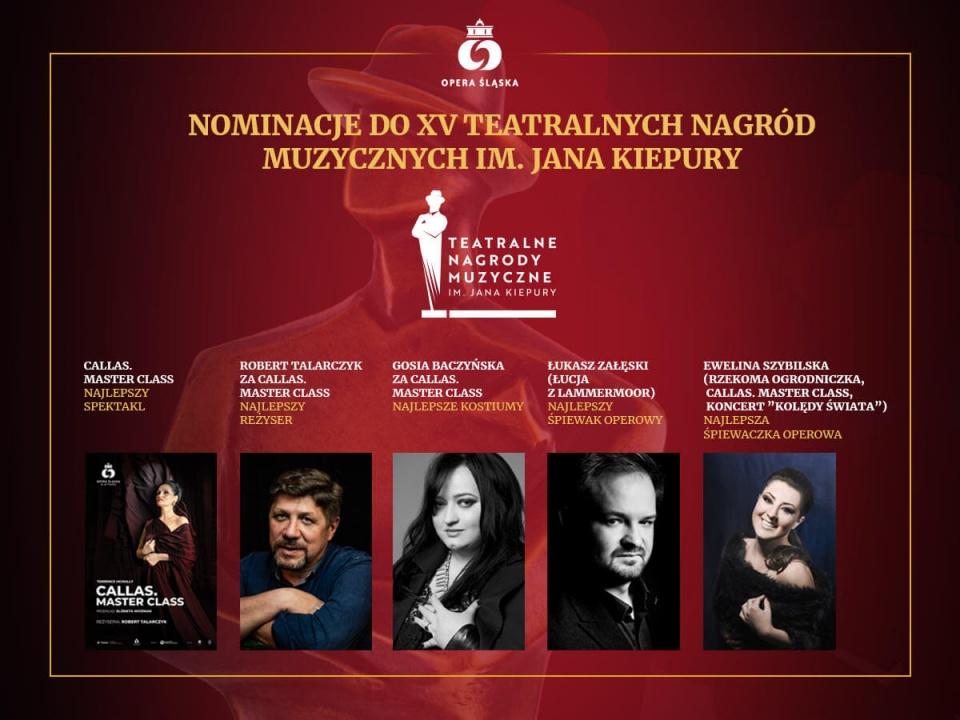 Opera Śląska otrzymała aż 5 nominacji w XV edycji Teatralnych Nagród Muzycznych im. Jana Kiepury.