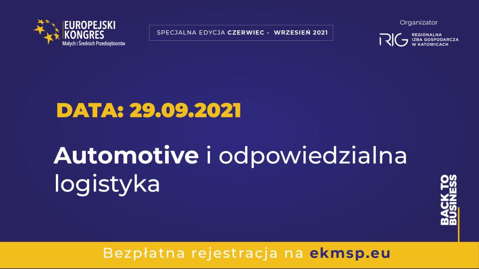 Polski Ład – co może dać MŚP? Czy zero-emisyjność się opłaca? Dowiemy się podczas wydarzeń Europejskiego kongresu MŚP!