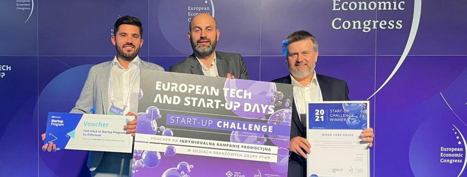 Polska firma stworzyła nowy standard prefabrykacji. Wood Core House  z nagrodą Start-up Challenge 2021 podczas Europejskiego Kongresu Gospodarczego!